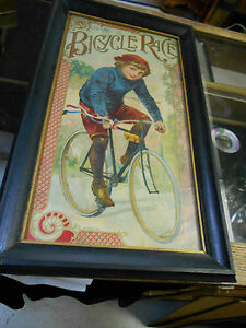 antique game of bicycle race mcloughlin bros