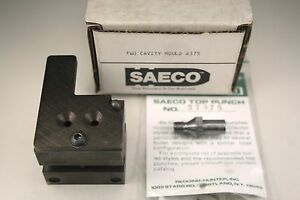 Saeco 2-Cavity Bullet Mold #375 375 Cal. 240gr Truncated Cone & Top Punch #37375