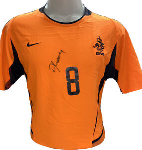 Signed Frank Rijkaard Holland NetherLands Home Shirt Rare Dri Fit Barcelona $189.90