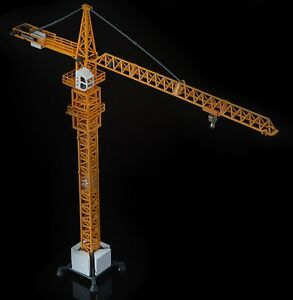 KDW 1:50 Scale Diecast Tower Slewing Crane Construction Vehicle Car Models Toy T