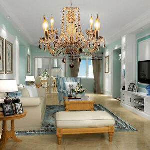 Elegant Crystal Chandelier Modern Ceiling Light 4 Lamp Pendant Fixture Lighting $46.75