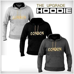 2London Fleece Hoodies Top Hooded Sweat Shirt Gym Clothing Running multi purpose