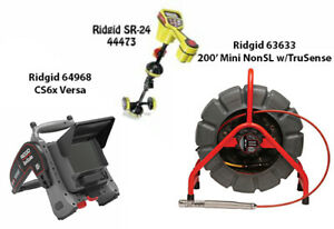 Ridgid 200' MINI Reel (14063) Seektech SR-24 Locator (44473) CS6X (57138)