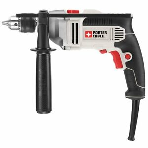 Porter Cable 7 Amp 1 2 Inch CSR Single Speed Cast Metal Gear Hammer Drill $60.00
