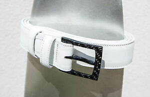 2BELT white leather belt with 100% carbon fiber buckle - with special gift