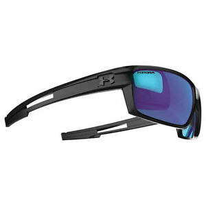 Under Armour Captain Storm Satin Black FrameGray Polarized wBlue Mirror Lens