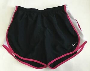 NIKE TEMPO RUNNING SHORTS GIRL'S YOUTH XL BLACK PINK WHITE