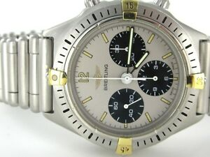 BREITLING CALLISTO BULLET BAND 80520 D CRHONO STAINLESS STEEL GOLD 014825501