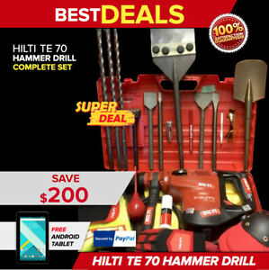 HILTI TE 70 LK NEW MODEL TE 76 PREOWNED LOADED BITS GERMANY FAST SHIP