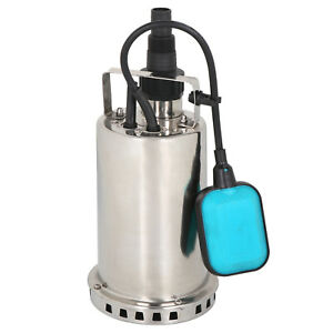 1HP Submersible Stainless Steel  Pump Sump Dirty Clean Water Pump w/26ft Cable