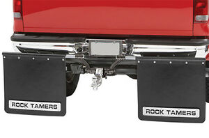 "Rock Tamer Mud Flaps Universal fit 2.5"" Receiver Hitch Adjustable Removable 110"