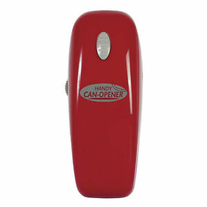 The Handy Can Opener RED Automatic Electric Smooth Edge Easy One Touch Portable