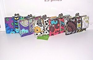 VERA BRADLEY RETIRED SMALL KISSLOCK WALLET WITH COIN CHOICE PATTERNS NWT