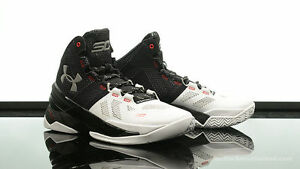 Under Armour Curry 2 Two suit and tie playoff black white one low 1