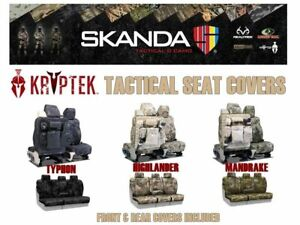 Coverking Kryptek Camo Tactical Front & Rear Custom Seat Covers for Ram Truck