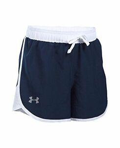 Girls Under Armour Fast Lane Shorts Midnight Navy 410 Youth X-Large