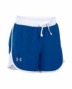 Girls Under Armour Fast Lane Shorts Royal 400 Youth Large
