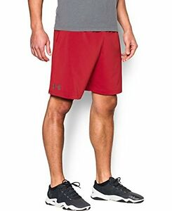 Mens Under Armour Hiit Shorts Red 600 Large