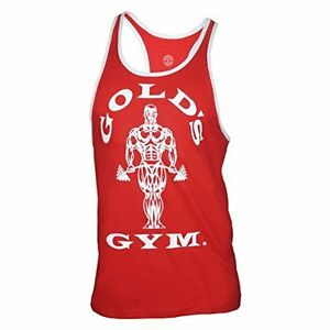 PunaFlex Golds Gym Mens Tank Top … Small Red
