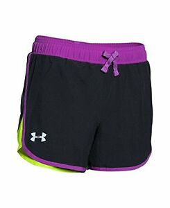 Under Armour Girls Fast Lane Shorts Black 002 Youth X-Large