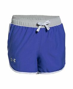 Under Armour Girls Fast Lane Shorts Constellation Purple 530 Youth Large