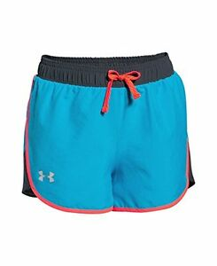 Under Armour Girls Fast Lane Shorts Meridian Blue 987 Youth Large