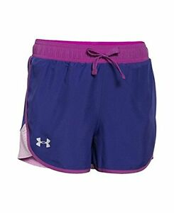 Under Armour Girls Fast Lane Shorts Purple Sky 937 Youth X-Large