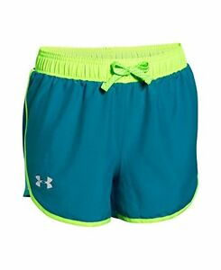 Under Armour Girls Fast Lane Shorts Teal Blast 932 Youth Large