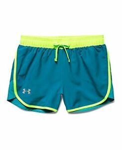 Under Armour Girls Fast Lane Shorts Teal Blast 932 Youth Small
