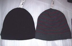 MENS JF FERRAR SHERPA LINED BEANIE HATS MULTIPLE COLORS ONE SIZE NEW WITH TAGS $9.09