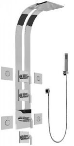 Graff GE1.120A-LM40S-SN Full Thermostatic Ski Shower System W Lever Handles