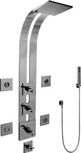 Graff GE1.120A-C9S-SN Full Thermostatic Ski Shower System W Wing Handles