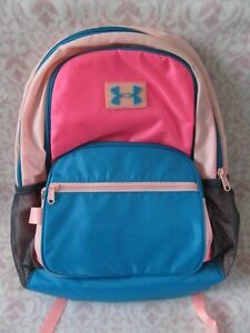 UNDER ARMOUR Girl's UA Backpack Great Escape Color Pink PunkCyanBlack - NEW