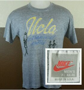 Vintage Nike Tri-blend Made In USA UCLA Intramural Sports Paper Thin T-shirt XL