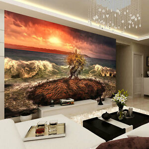 Lava Clouds Sky Sunlight  Full Wall Mural Photo Wallpaper Print Home 3D Decal