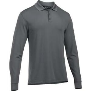 UNDER ARMOUR TAC Performance Polo Longsleeve Size: 3X-Large Color: Graphite
