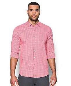 Under Armour Mens Performance Woven Shirt Red 600 Large