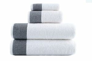 Lunasidus Venice Collection 4 Pc Towel Set - 100% Genuine Turkish Combed Cotton