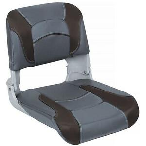Clam Shell Fishing Seats Charcoal and Black