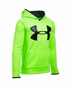 Under Armour Boys AF Storm Highlight Hoody FUEL GREEN-Black-Black YXL