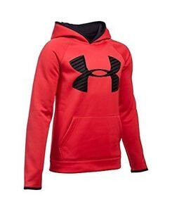 Under Armour Boys AF Storm Highlight Hoody Red-Black-Black YXL