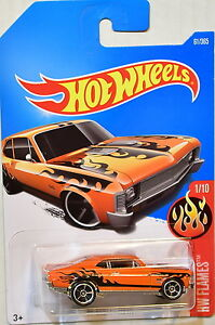 HOT WHEELS 2017 FLAMES '68 CHEVY NOVA ORANGE