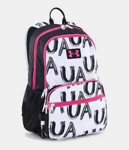 Under Armour Backpack Girls Great Escape White Black Pink 1260542 100 nwt $45