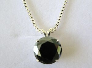 4.00ct NATURAL BLACK DIAMOND NECKLACE CERTIFICATE AUTHENTICITYFREE DIA TESTER