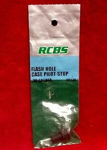 New RCBS Flash Hole Deburring Tool Case Pilot Stop 30 Cal 88128