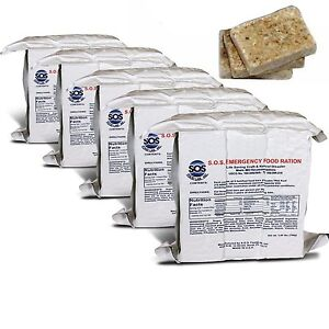 S.O.S. Emergency Food Rations 3600 Calorie with 5 Year Shelf Life - (Pack of 5)