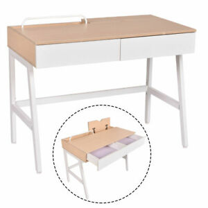 Computer Desk Laptop PC Table Study Workstation Home Office Furniture w Drawers