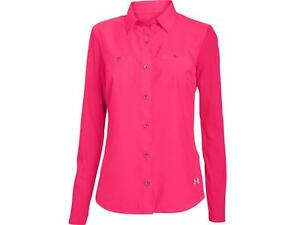 Under Armour $65 Women's Coolswitch Thermocline Amalgam Shirt HOT PINK Size XL