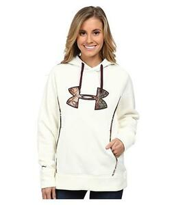 Under Armour Women's STORM Caliber Hoodie Ivory Camo REALTREE Size S