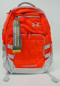 NWT Under Armour Camden Backpack  Orange One Size Waterproof 1261826-810  $74.99